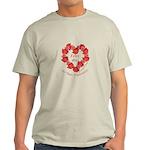 Spanish Rose Wreath on White Light T-Shirt