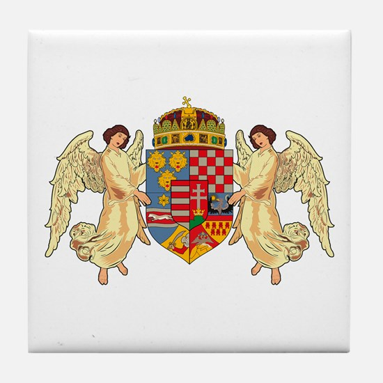 Hungary Coat of Arms (19th Ce Tile Coaster