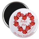 Spanish Rose Wreath on White Magnet