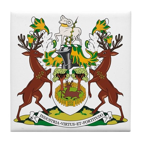 Derby Coat of Arms Tile Coaster