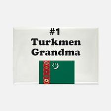 #1 Turkmen Grandma Rectangle Magnet