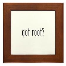 got root? Framed Tile