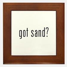 Unique Sand Framed Tile