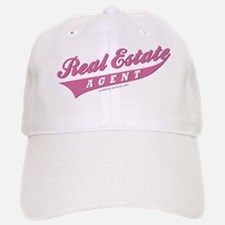 REAL ESTATE AGENT (Pink) Baseball Baseball Cap for the Realtor