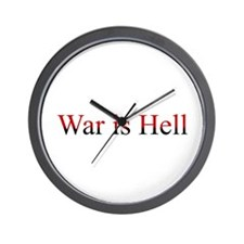 War is Hell Wall Clock