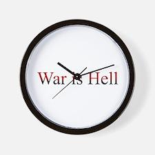 War is Hell Wall Clock