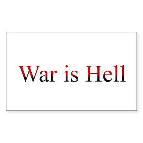 War is Hell Rectangle Sticker