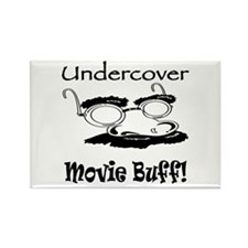 Undercover Movie Buff Rectangle Magnet