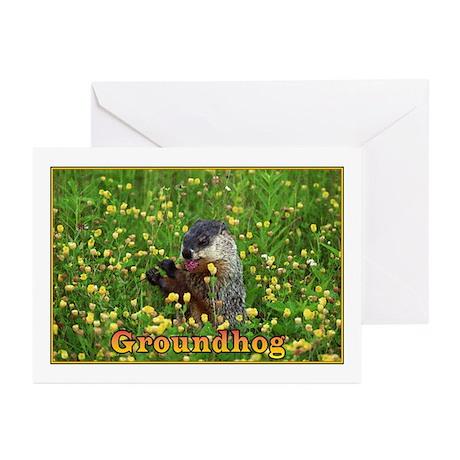 <B>HAPPY GROUNDHOG DAY</B> Greeting Cards (Pk of 2
