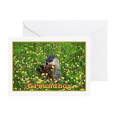 <B>HAPPY GROUNDHOG DAY</B> Greeting Card