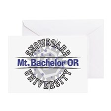 Snowboard Mt. Bachelor OR Greeting Card