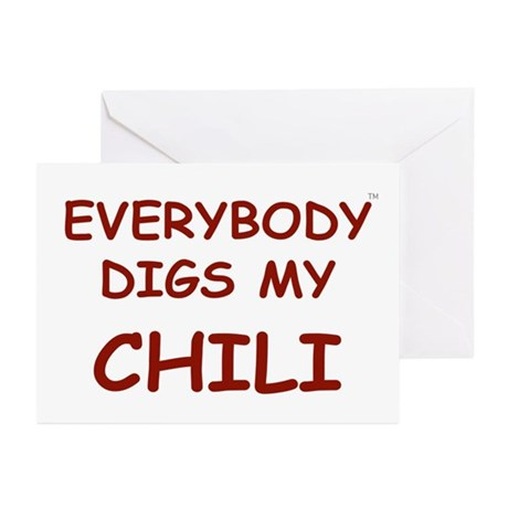 Everybody Digs My CHILI Greeting Cards (Pk of 20)