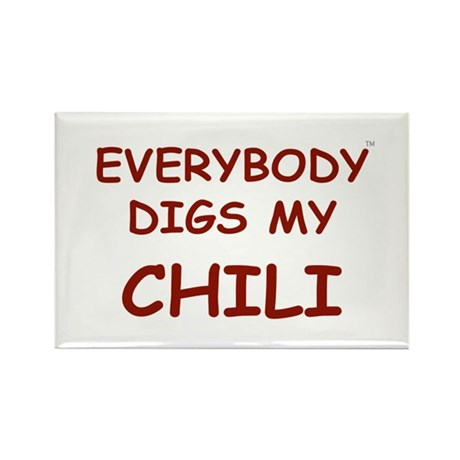 Everybody Digs My CHILI Rectangle Magnet (100 pack