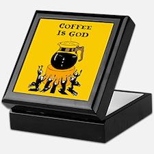 Coffee Is God Keepsake Box