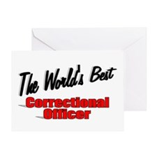 """""""The World's Best Correctional Officer"""" Greeting C"""