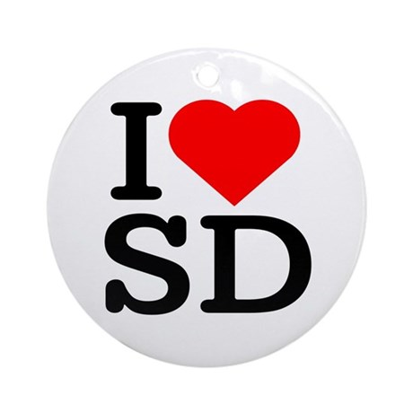 I Love South Dakota/San Diego - Keepsake (Round)