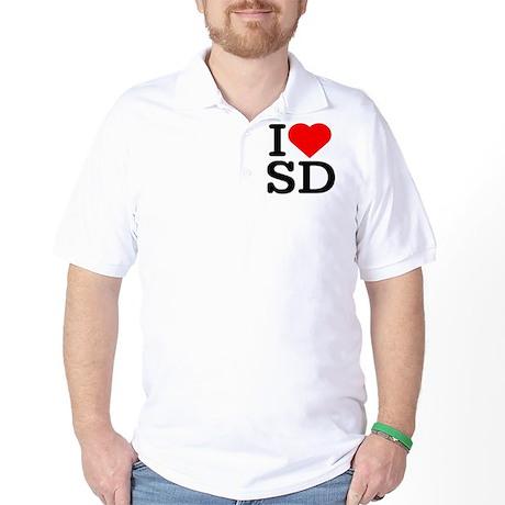 I Love South Dakota/San Diego - Golf Shirt