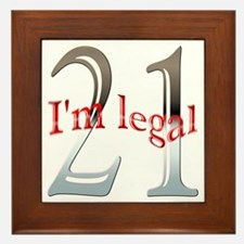I'm Legal 21st Birthday Framed Tile