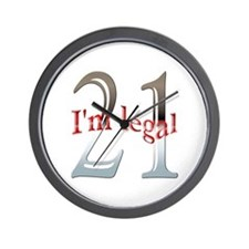 I'm Legal 21st Birthday Wall Clock