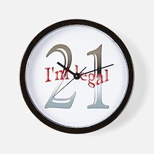 I'm Legal 21st Birthday Wall Clock