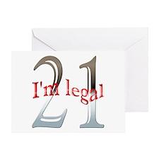 I'm Legal 21st Birthday Greeting Card