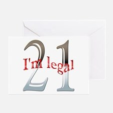 I'm Legal 21st Birthday Greeting Card