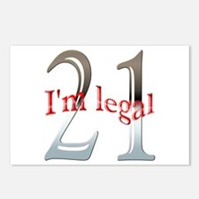 I'm Legal 21st Birthday Postcards (Package of 8)