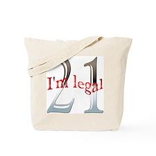 I'm Legal 21st Birthday Tote Bag