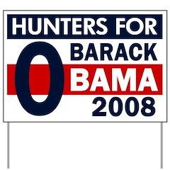 Hunters for Barack Obama Yard Sign