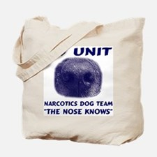 Narcotics Dog Team Tote Bag