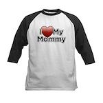 Love Mommy Kids Baseball Jersey
