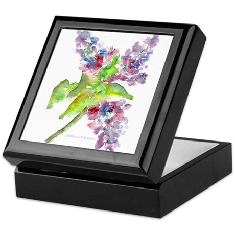 Lilacs Keepsake Box
