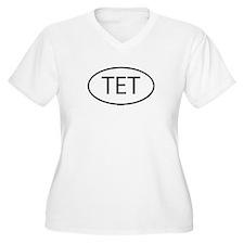 TET Womes Plus-Size V-Neck T-Shirt