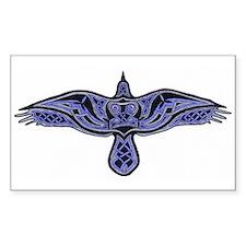 Celtic Raven Rectangle Sticker