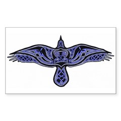 Celtic Raven Rectangle Decal