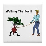 Walking The Beet! Tile Coaster