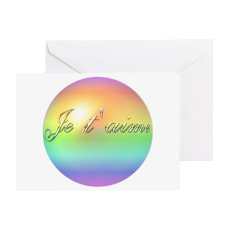 French Je T'aime I Love You Greeting Card