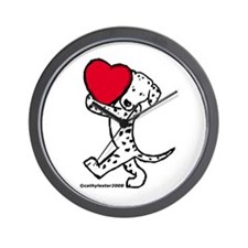 Dalmatian Valentine Wall Clock