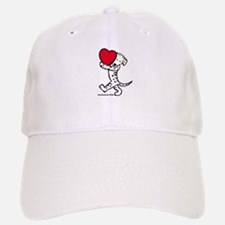 Dalmatian Valentine Baseball Baseball Cap