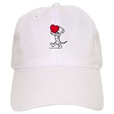 Dalmatian Valentine Baseball Cap