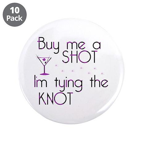 "Buy Me A Shot - Retro Martini 3.5"" Button (10 pack"