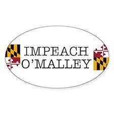 Impeach O'Malley Oval Decal