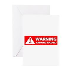 Warning! Choking Hazard Greeting Cards (Pk of 20)