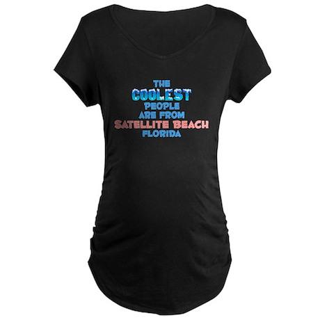 Coolest: Satellite Beac, FL Maternity Dark T-Shirt
