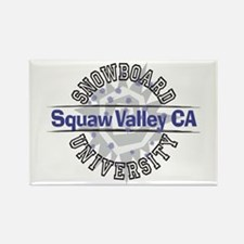 Snowboard Squaw Valley CA Rectangle Magnet