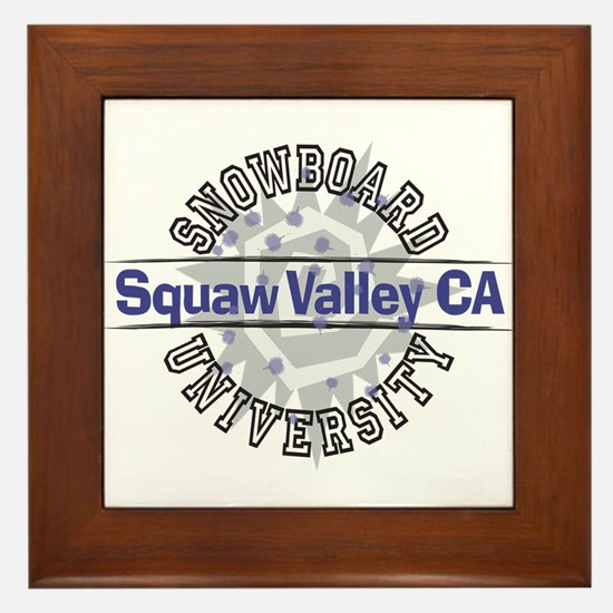 Snowboard Squaw Valley CA Framed Tile