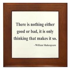 Shakespeare 17 Framed Tile