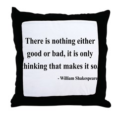 Shakespeare 17 Throw Pillow