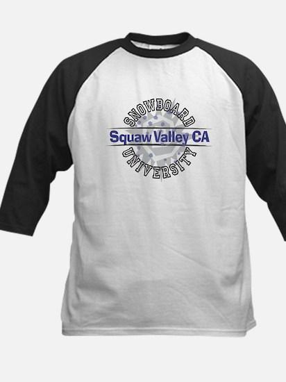 Snowboard Squaw Valley CA Kids Baseball Jersey