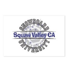 Snowboard Squaw Valley CA Postcards (Package of 8)